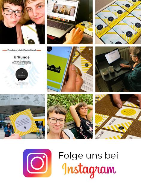 Folge uns bei Instagram