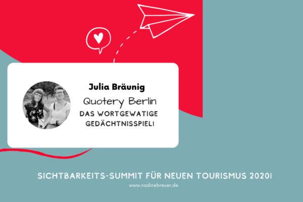 """quotery im Interview beim """"Sichtbarkeits-Summit für neuen Tourismus"""""""